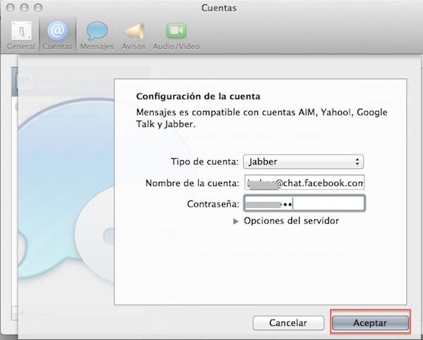 Cómo configurar Facebook Chat en iMessage - Configurar-facebook-chat-imessage-3