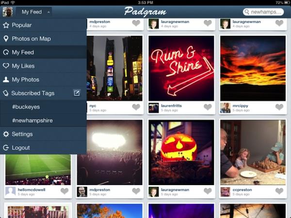 Padgram ipad Padgram, una genial aplicación de Instagram para iPad