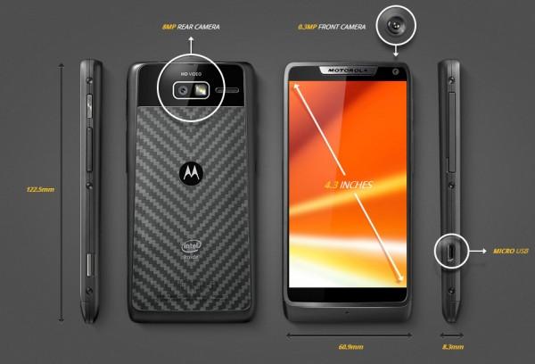 Motorola presenta en México el RAZR i, el primer smartphone con procesador Intel de 2 GHz - motorola-razr-i-specs-600x408