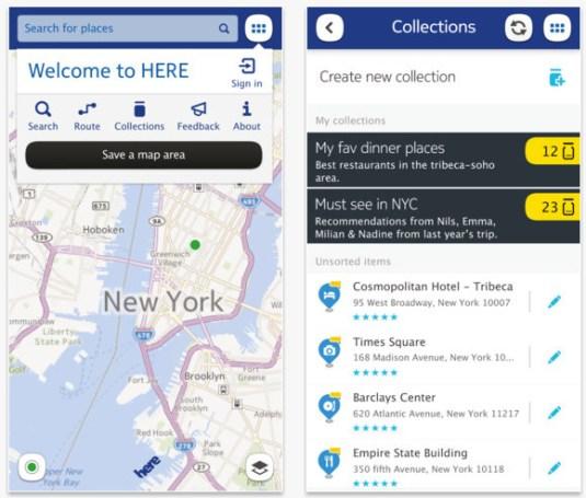 Los mapas de Nokia, de nombre Here ya están disponibles para iOS - nokia-here