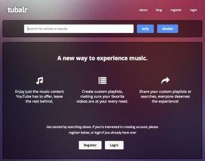 Ver videos de música sin distracciones con Tubalr