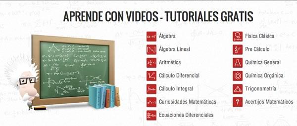 Aprender matemáticas, química y física con videos en TareasPlus - videos-quimica-tareasplus