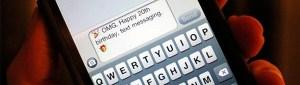 Los mensajes SMS cumplen su 20º aniversario