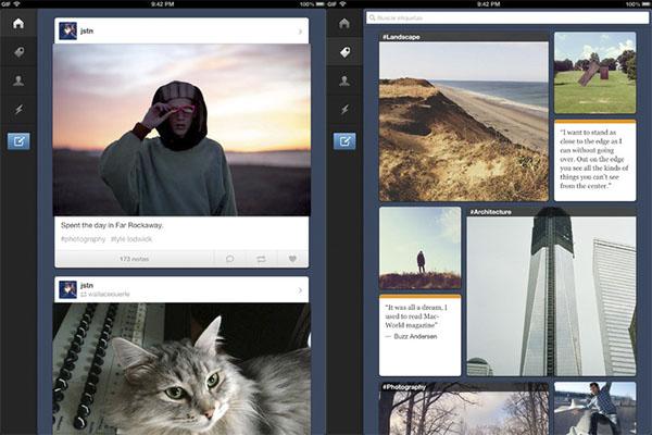 Tumblr para iPad disponible para descargar - Tumblr-iPad