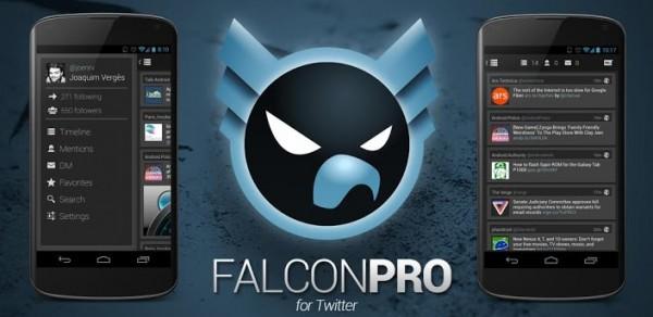 Falcon Pro para Android está disponible y llega para ser uno de los mejores clientes de Twitter - falcon-pro-android-600x292