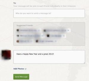 Envia mensajes de año nuevo por Facebook automáticamente