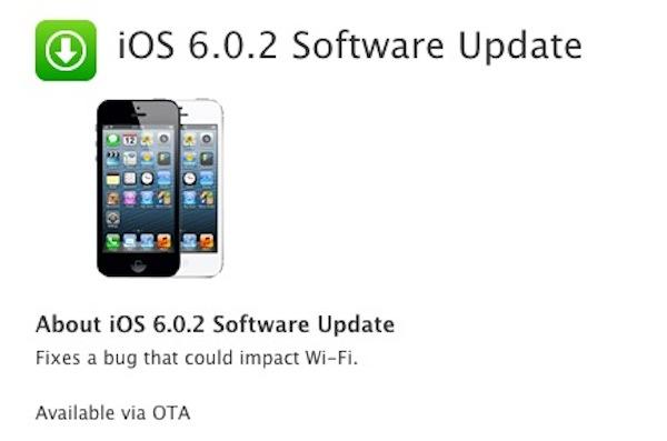 iOS 6.0.2 es lanzado por Apple y corrige los errores en la conectividad de las redes Wi-Fi - iOS-6-0-2