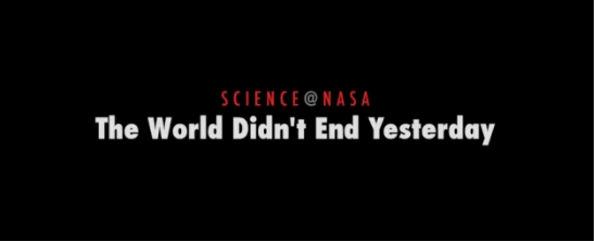 video de la nasa sobre el fin del mundo NASA presenta video sobre el fin del mundo para este 21 de Diciembre