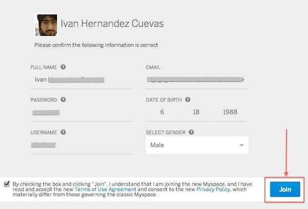 Cómo crear una cuenta en el nuevo MySpace - Crear-cuenta-myspace-3
