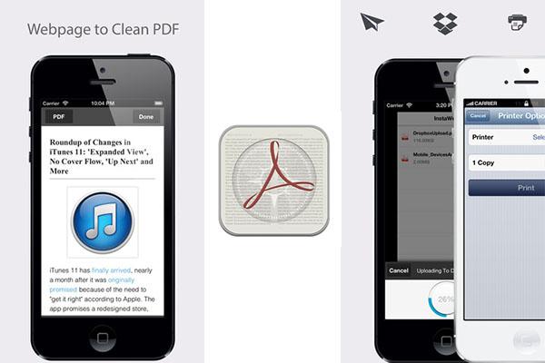 InstaWeb, una aplicación para convertir páginas web a PDF desde tu iPhone - InstaWeb