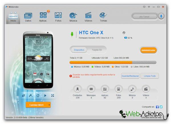 Moborobo, una excelente aplicación para administrar el contenido de tu Android [Reseña] - Moroboro-Android-1