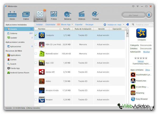 Moborobo, una excelente aplicación para administrar el contenido de tu Android [Reseña] - Moroboro-Android-2