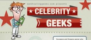 Celebridades Geeks y algunos de sus secretos [Infografía]