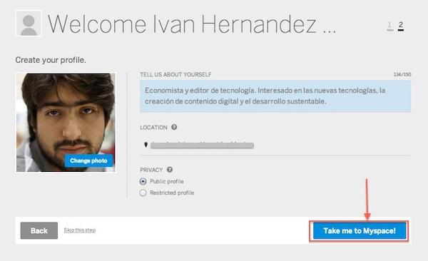 Cómo crear una cuenta en el nuevo MySpace - crear-cuenta-myspace-5