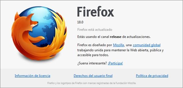 Conoce las nuevas características del Mozilla Firefox 18 - firefox-18