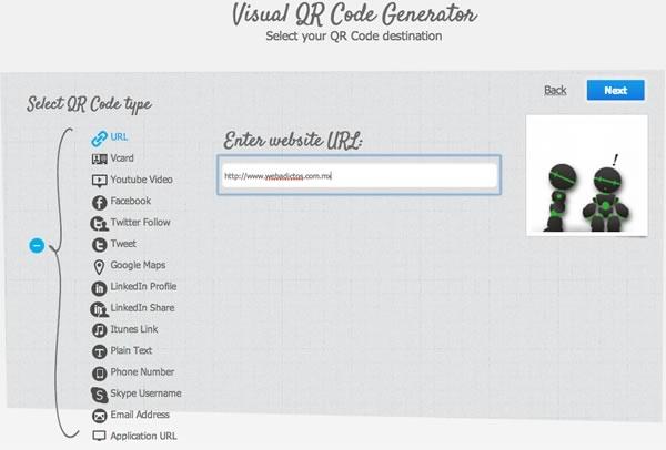 Crear códigos QR personalizados en Visualead - generador-codigos-qr-2