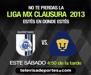 queretaro pumas en vivo clausura 2013 Querétaro vs Pumas en vivo, Clausura 2013 (Liga MX)