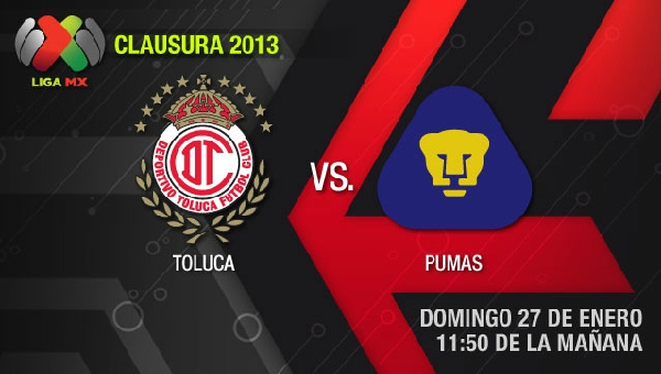 Toluca vs Pumas en vivo, Clausura 2013 (Liga MX) - toluca-pumas-en-vivo-clausura-2013