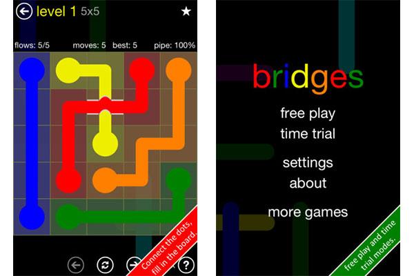 Flow Free: Bridges el nuevo juego para iOS y Android que pondrá al límite tu inteligencia - Free-Flow-Bridges-iOS-Android
