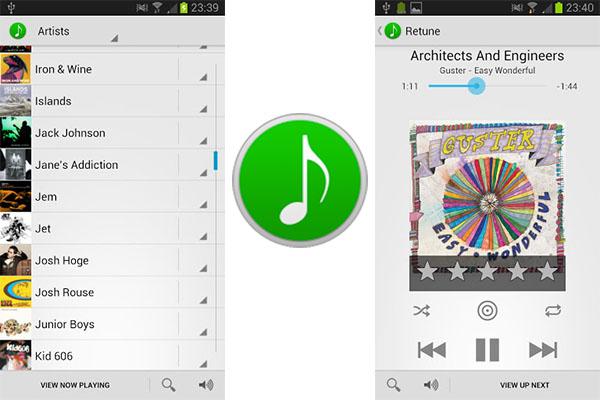 Controla iTunes desde tu Android con Retune - Retune-Android-app