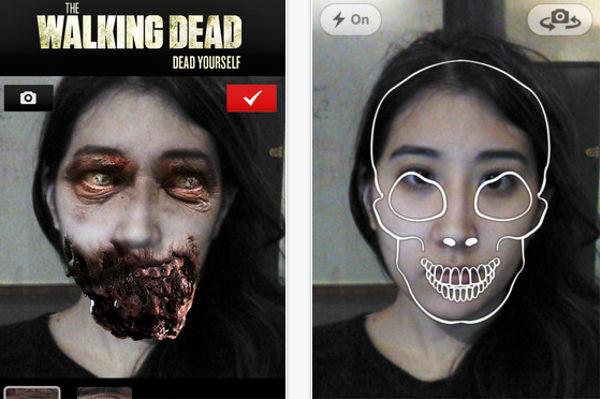 """Conviértete en zombie con """"The Walking Dead: Dead Yourself"""", aplicación gratuita para iOS - aplicacion-de-the-walking-dead"""