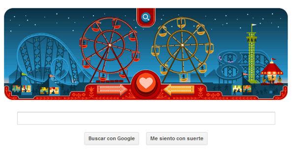 Google presenta Doodle del día de San Valentín y del creador de la rueda de la fortuna - doodle-del-dia-de-san-valentin