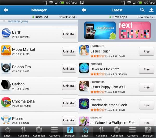 Mobo Market una excelente alternativa a la tienda de aplicaciones Google Play para Android [Reseña] - mobo-market-capt-600x533