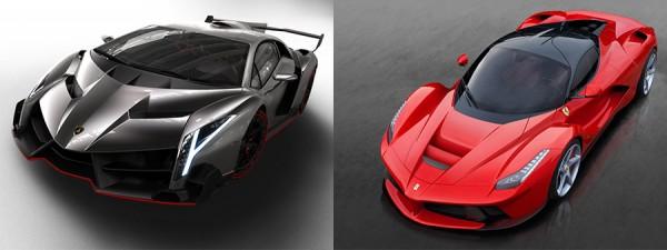 Ferrari LaFerrari vs Lamborghini Veneno, los nuevos autos de tus sueños - lambo-vs-laferrari-600x225