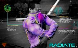 Radiate Athletics, las playeras deportivas que cambian de color de acuerdo a tu desempeño