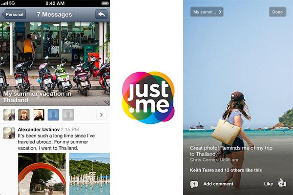 Just.Me, la nueva aplicación de mensajería instantánea que pretende competir con WhatsApp - Just-me-iPhone