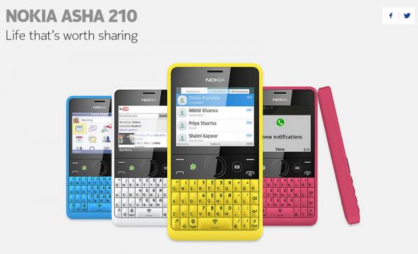 Nokia Asha 210, el primer teléfono con un botón para WhatsApp - Nokia-asha-210-600x365