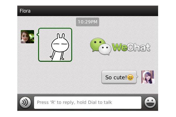 WeChat para BlackBerry ahora disponible en Español - WeChat-BlackBerry