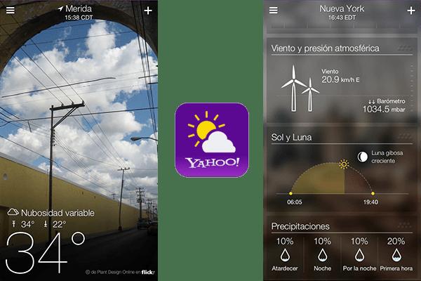 Yahoo! Tiempo, una de las aplicaciones más bellas para consultar el clima en iOS - Yahoo-tiempo-ios