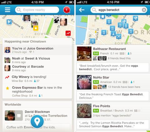Foursquare actualiza su aplicación para iOS a la versión 6.0 - foursquare6