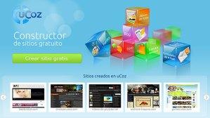 Crea sitios web de manera gratuita con uCoz