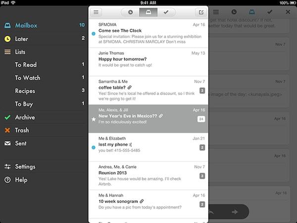 Mailbox para iPad es lanzado oficialmente - Mailbox-iPad
