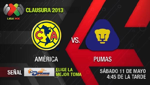 america pumas en vivo semifinal clausura 2013 Ver América vs Pumas en vivo por Televisa, Cuartos de Final (Liga MX)