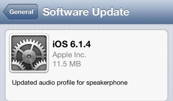 Actualización iOS 6.1.4 para iPhone 5 es lanzada por Apple - iOS-6-1-4