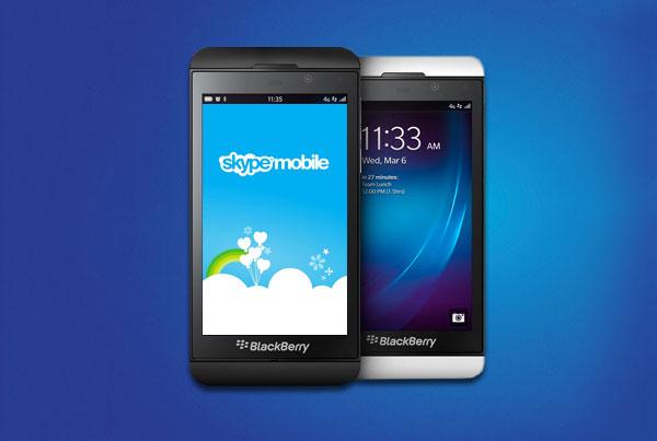 Skype se actualiza para BlackBerry 10 y llega al BlackBerry Q10 - skype-bb10