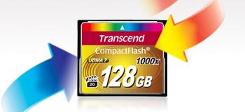 Memoria CompactFlash 1000x de Transcend, ideal para fotógrafos profesionales y cineastas que usan los DSLR's - trascend-compactflash-1000x