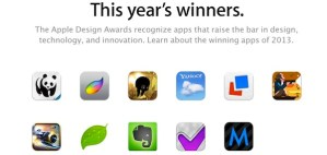 Apple premia a los desarrolladores con su Apple Design Awards 2013