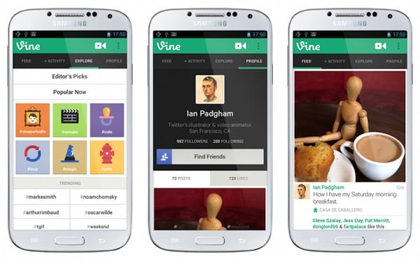 Vine para Android Vine para Android por fin disponible para descargar