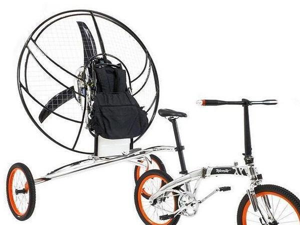 Inventan una segunda bicicleta voladora, la XploreAir Paravelo - bicicleta-voladora