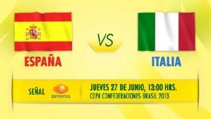 Ver España vs Italia en vivo, Copa Confederaciones 2013