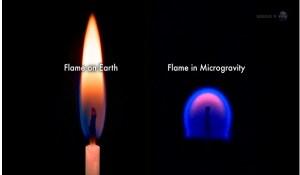Como se ven las llamas en el espacio