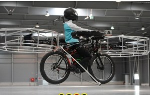 Inventan la primera bicicleta voladora