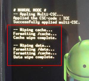 Restablecer valores de fabrica para Samsung Galaxy S3 - wiping-data