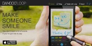 Bamboo Loop, el nuevo servicio para enviar imágenes con mensaje de Wacom