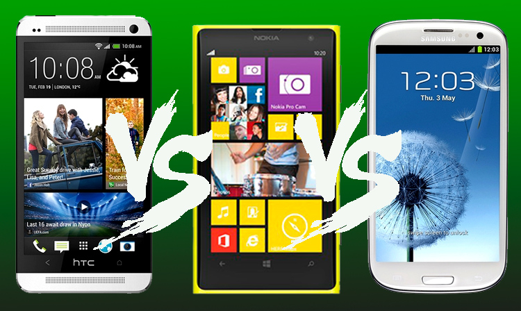 Comparación Nokia Lumia 1020 con los mejores smartphones del 2013 - Lumia-1020-vs-htc-one-vs-galaxy-s4