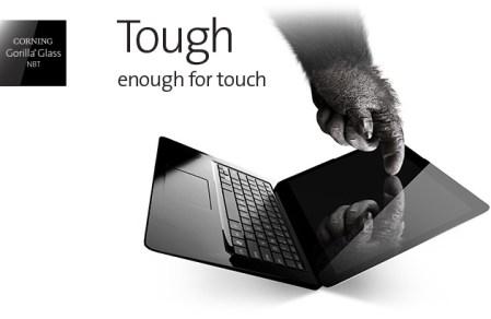 Gorilla Glass ahora presenta recubrimiento para pantallas táctiles en laptops